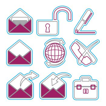 Vector business icons set 3. Vector Illustration EPS 8.