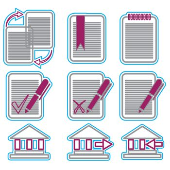 Vector business icons set 5. Vector Illustration EPS 8.
