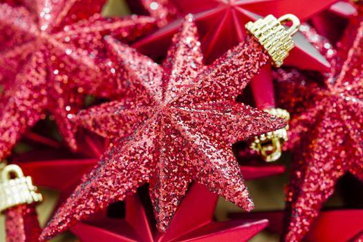 Shinny Red Christmas Stars