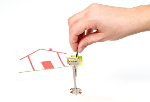 a bunch of House key  with house in backgrounds