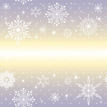 Christmas snowflake on purple background