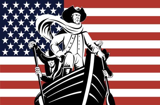 American revolution soldier general Flag