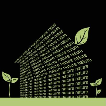 The house made of a word the nature. A vector illustration