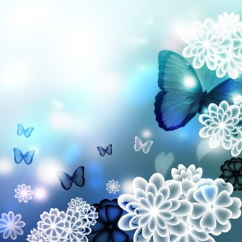 Blossoms and Butterflies Illustration