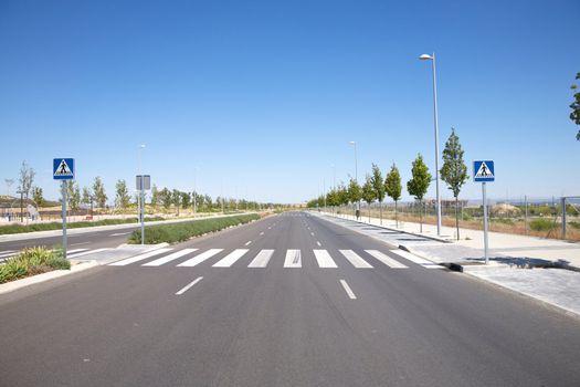 nobody on crosswalk