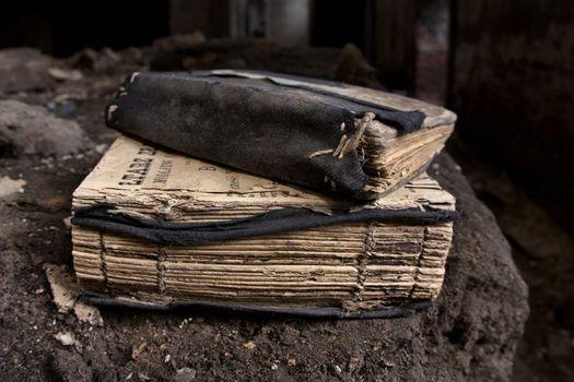 Couple of old worn prayer-books