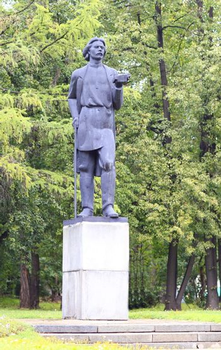 Soviet writer Maxim Gorky monument