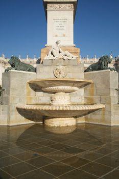 fountain at Oriente Square Madrid