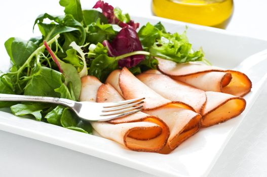 Prepared Meat and Salad