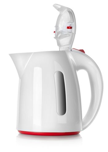 White kettle isolated