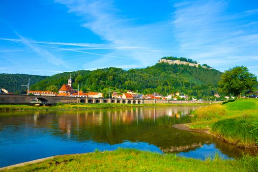 landscape on the River Elbe, Germany, the region of Europe
