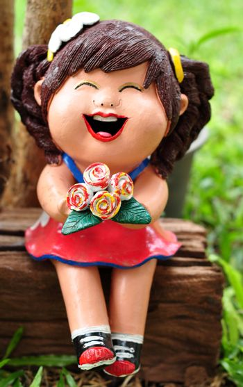 A doll is a model of a human being, often used as a toy for children.