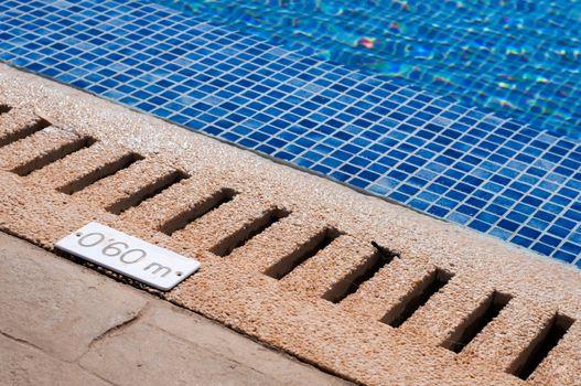 Pool and depth indicator