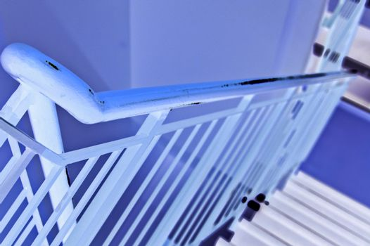 Shaded foto of ladder to next floor
