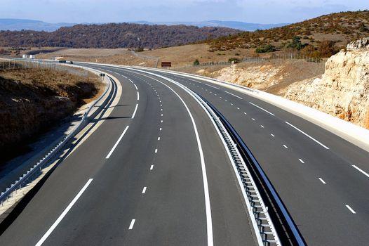 motorway landscape