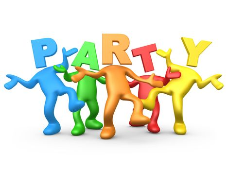 Computer Generated Image - Party People .