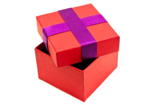 Isolated red purple present box