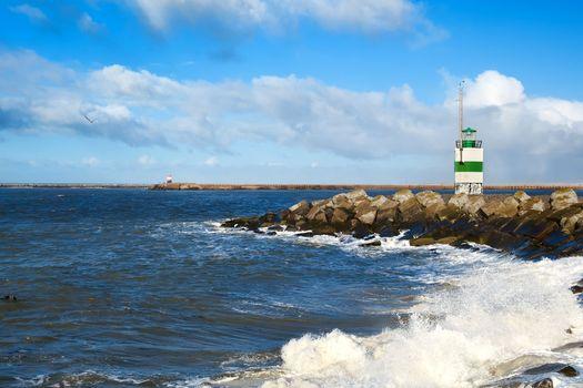 lighthouse on North sea coast