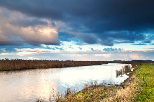 beautiful cloudscape over river