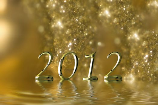 2012 Christmas luxurious gold background