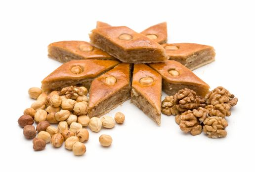Baklava and nuts