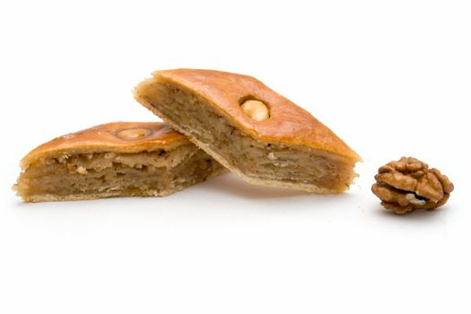 Baklava and walnut