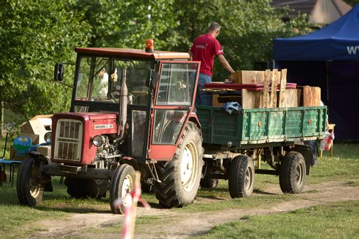 Tractor with furniture, in Lubuskie, Poland.
