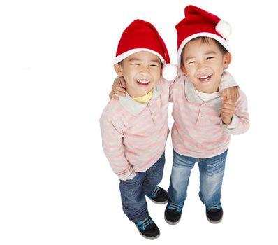 two happy asian boys