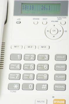 grey phone keypad