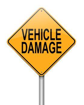 Vehicle damage sign.