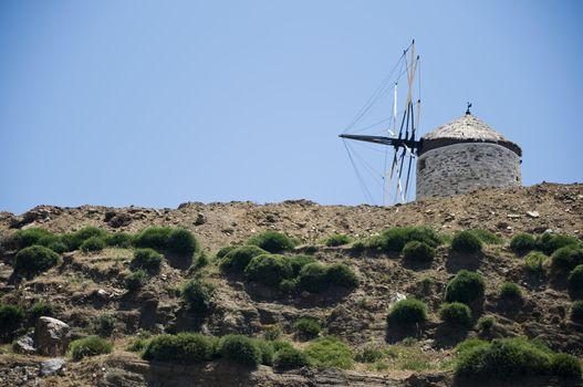 Obsolete Windmill in Naxos