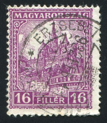 HUNGARY - CIRCA 1925: stamp printed by Hungary, shows Antal Szerb, circa 1925