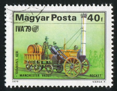 HUNGARY - CIRCA 1979: stamp printed by Hungary, shows locomotive, circa 1979