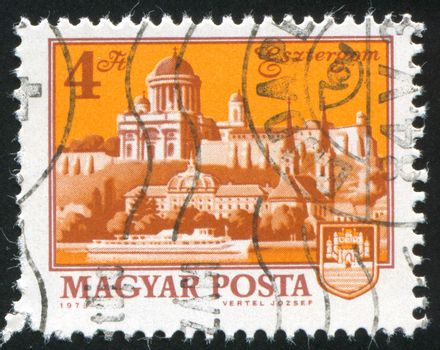 HUNGARY - CIRCA 1973: stamp printed by Hungary, shows Esztergom Cathedral, circa 1973