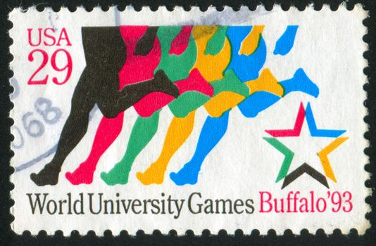 UNITED STATES - CIRCA 1993: stamp printed by United States of America, shows heroes from sportsmen, circa 1993
