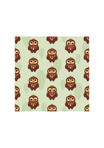 cute seamless pattern with owl