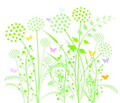 Dandelion and grasses