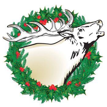 Deer in the wreath