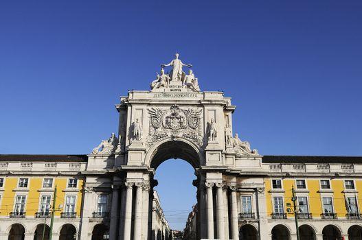 Arch of augusta in lisbon