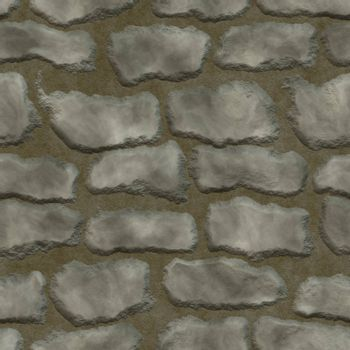 Stones in mortar seamless background