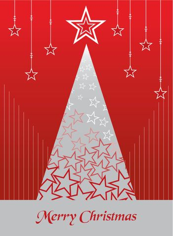 Christmas postage card background