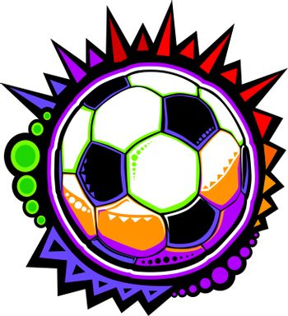Soccer Ball Colorful Mosaic Vector Design