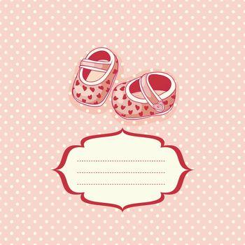 cute newborn baby card, vector illustration, eps10