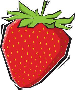 strawberries vector illustration painting
