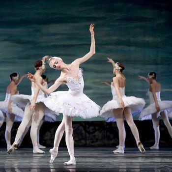 CHENGDU - DEC 24: Swan Lake ballet performed by Russian royal ballet at Jinsha theater December 24, 2008 in Chengdu, China.