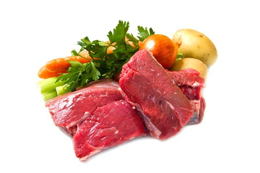 meat for boiled with fresh vegetables