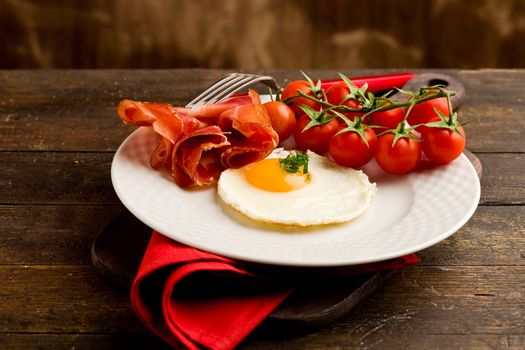 English Breakfast with Eggs and Bacon