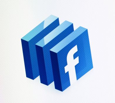 Kiev, Ukraine - December 15, 2011 - Close-up view of Facebook sign on a monitor screen. Facebook is a most visited social media website in the world.