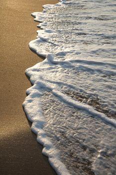 water over seashore