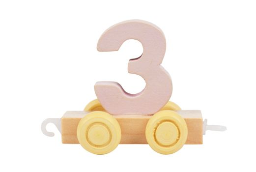 Wooden toy number 3
